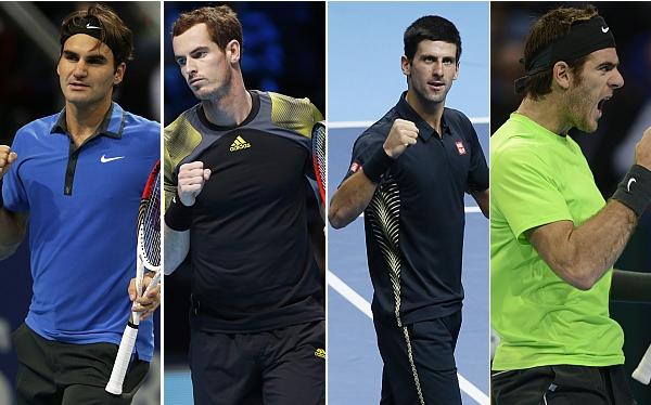 Federer-Murray y Djokovic-Del Potro, las semifinales del Masters de Londres