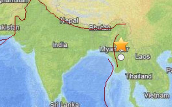 Sismo de 6,8 grados dejó 6 muertos y 20 heridos al norte de Birmania