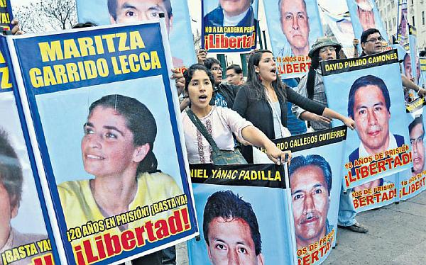 Movadef reconoce que coordina con sus bases de Chile y Argentina