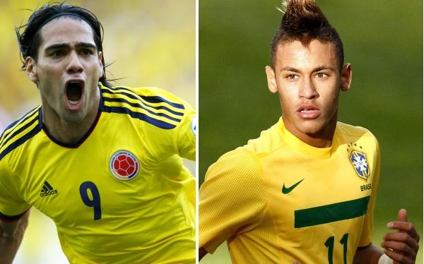 Falcao vs. Neymar, el duelo aparte en el Colombia-Brasil del miércoles