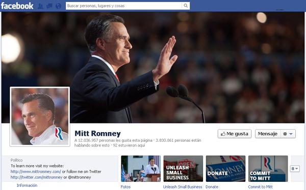 Mitt Romney pierde amigos en Facebook tras caer en elecciones