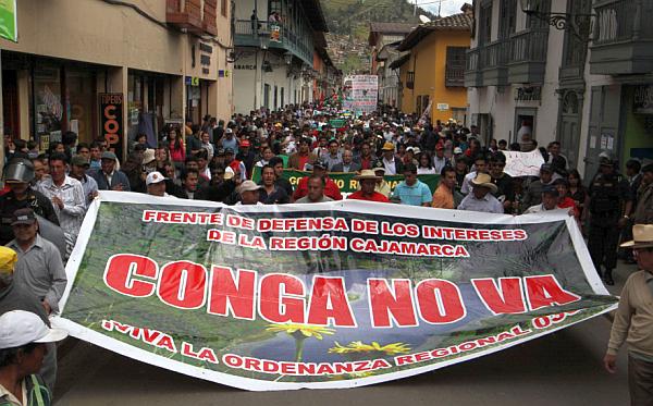 Antimineros de Cajamarca se niegan a dialogar con el Gobierno