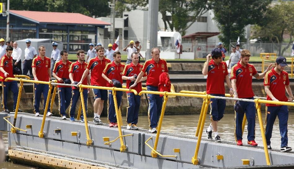 FOTOS: la selección de España en su primer día de visita en Panamá