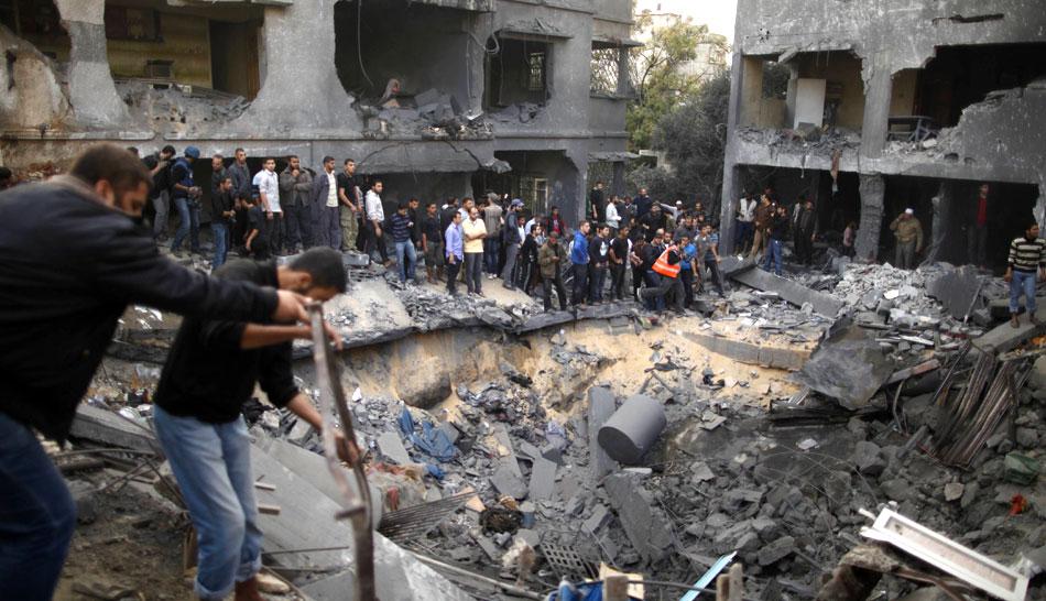 FOTOS: los rostros del dolor tras el cruento bombardeo en la Franja de Gaza