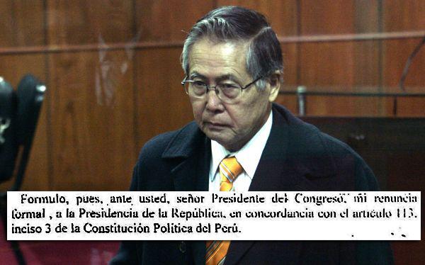 Hace 12 años, Alberto Fujimori renunció a la Presidencia de la República vía fax
