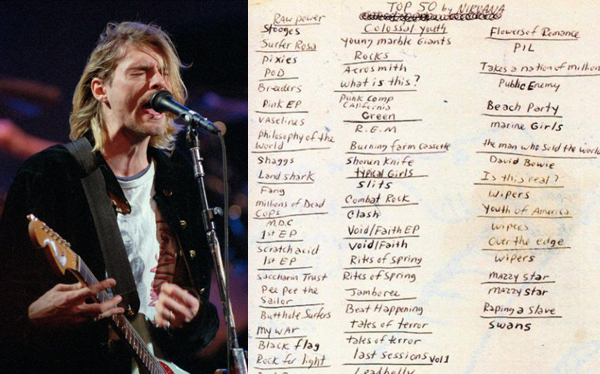 Los 50 discos favoritos de Kurt Cobain