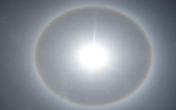 Halo solar sorprendió a arequipeños este mediodía