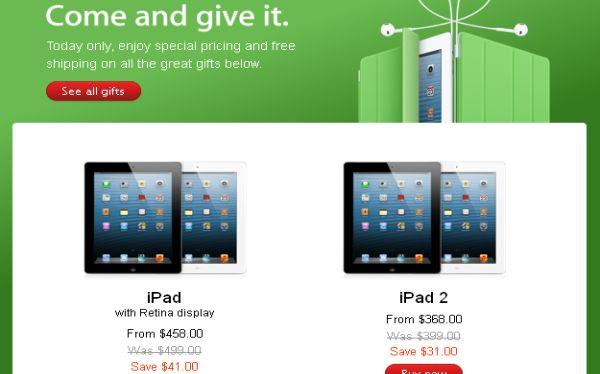 Apple rebajó en US$40 el precio de sus iPad por el 'Black Friday'