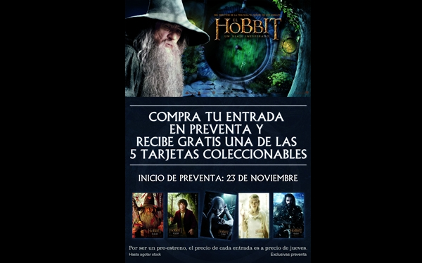 """Hoy se inició la preventa de entradas para """"El Hobbit: un viaje inesperado"""""""