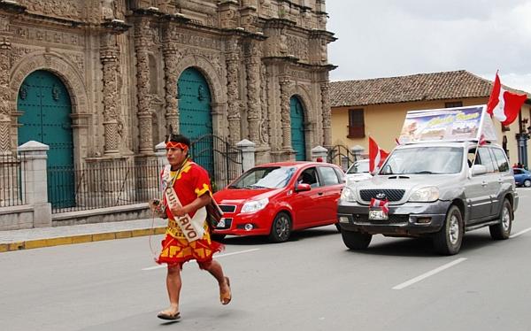 'Chasqui' recorrerá 1.200 kilómetros llevando un mensaje de paz