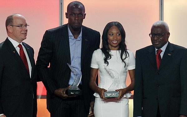Usain Bolt consiguió por cuarta vez el trofeo de 'Atleta del año'