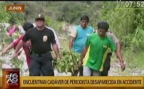 Junín: fue hallada periodista fallecida tras caída de auto al río Tarma - Noticias de lorena chauca