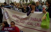 Trabajadores judiciales marcharán hacia el Congreso y el Poder Judicial - Noticias de presupuesto general de la república 2013