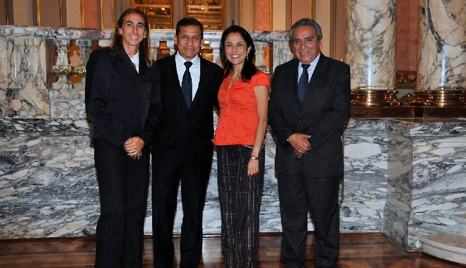 FOTOS: Natalia Málaga fue recibida por Ollanta Humala y Nadine Heredia en Palacio de Gobierno