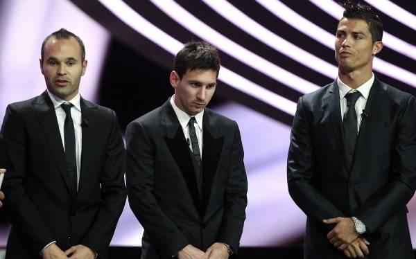 Messi, Cristiano Ronaldo e Iniesta, los candidatos oficiales al Balón de Oro