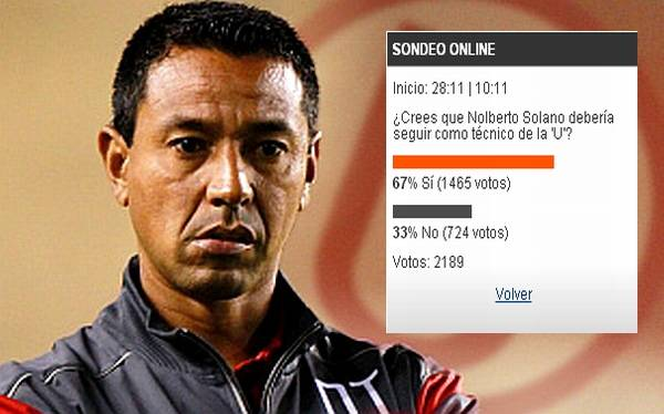 Solano debe seguir como DT de la 'U', según lectores de elcomercio.pe