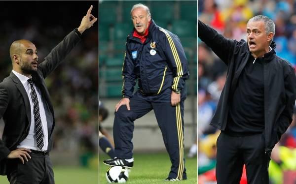 Guardiola, Mourinho y Del Bosque, candidatos a mejor técnico del 2012
