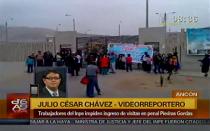 Trabajadores del INPE impiden ingreso de visitas a penal Piedras Gordas - Noticias de presupuesto general de la república 2013