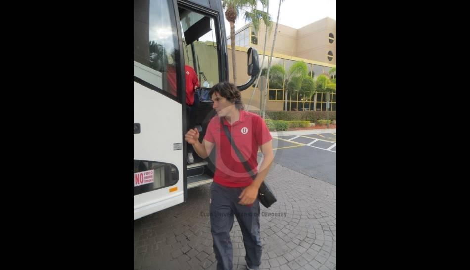FOTOS: la 'U' llegó a Miami para enfrentar a Alianza Lima en clásico amistoso