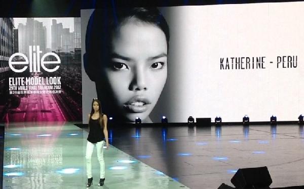Modelo peruana participó en el Elite Model Look 2012 en Shanghái
