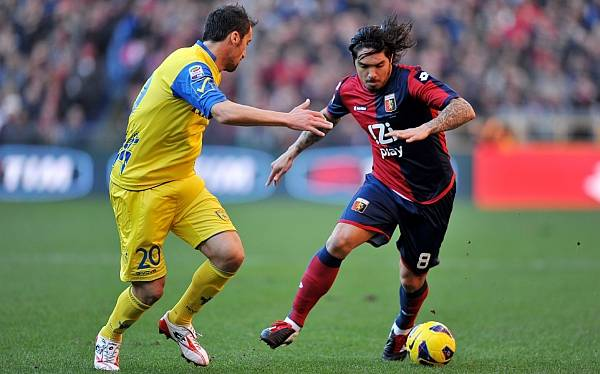 Juan Vargas jugó su primer partido completo en el Génova, pero perdió