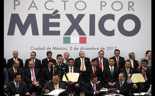 México: Peña Nieto firmó pacto con líderes de principales partidos políticos