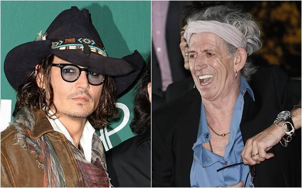 Johnny Depp y Keith Richards graban canciones sobre piratas, según Rolling Stone