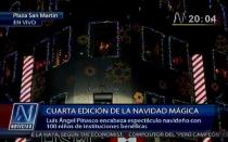 VIDEO: cientos de niños llevaron el espíritu de la Navidad a la Plaza San Martín - Noticias de luis Ángel pinasco