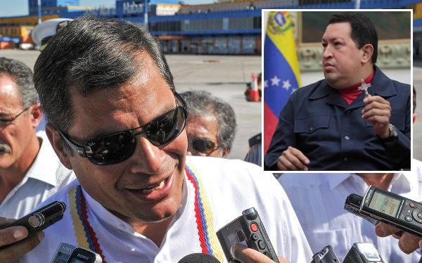 """Rafael Correa aseguró que Hugo Chávez está con """"gran ánimo"""""""