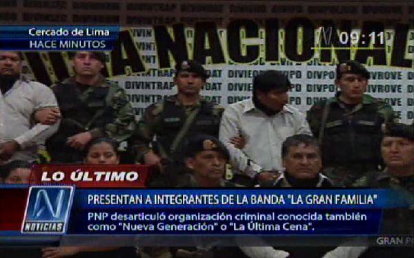 """Lambayeque: Policía capturó a tres miembros más de """"La gran familia"""""""