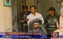Luis Mannarelli Rachitoff fue recluido en el penal del Callao - Noticias de clan calígula