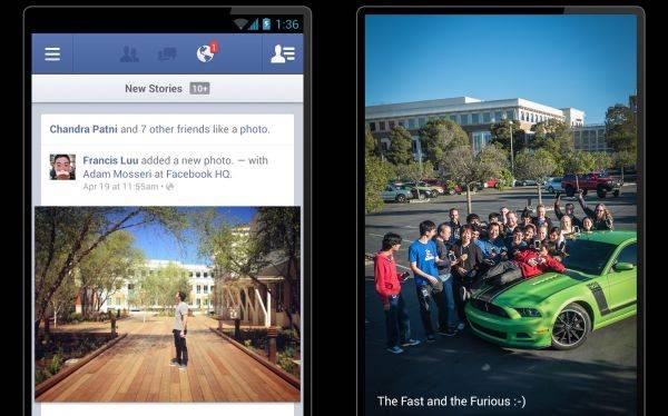 """Facebook hizo """"dos veces más veloz"""" su aplicación para Android"""