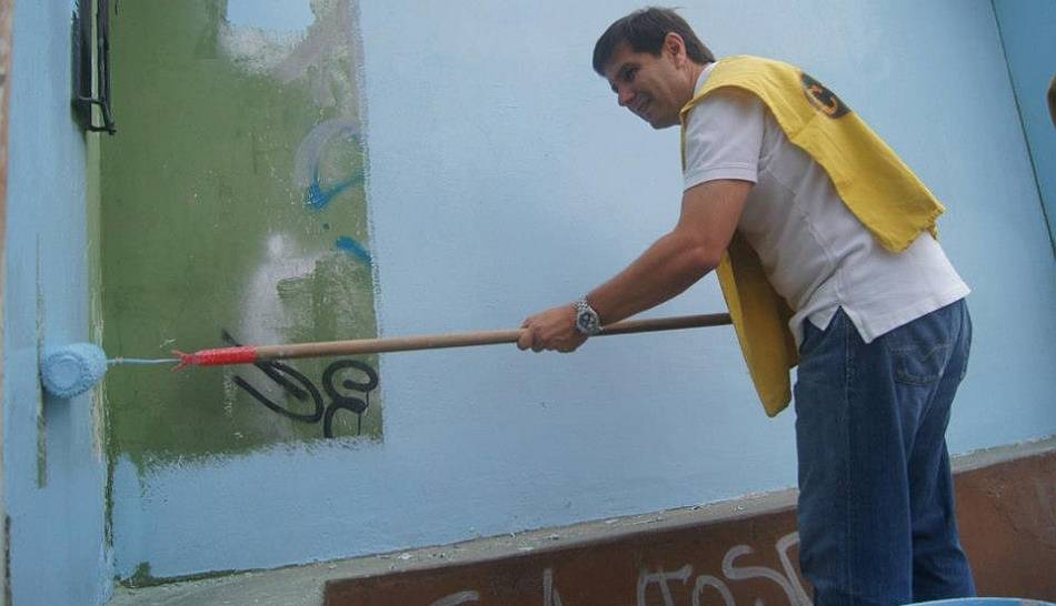 FOTOS: campeón Sporting Cristal pintó de celeste el barrio de La Florida