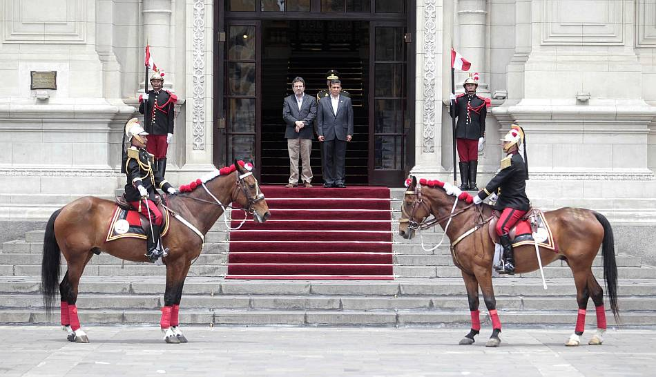 FOTOS: el último cambio de guardia del año en Palacio de Gobierno