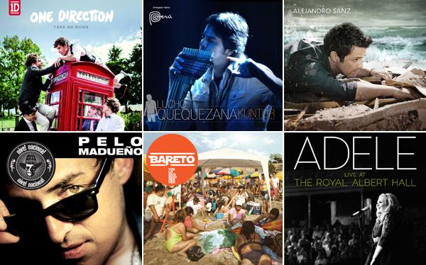Estos son los 20 discos más vendidos del 2012 en el Perú