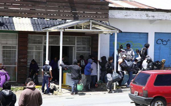 Argentina: Violencia y saqueos en supermercado de Bariloche