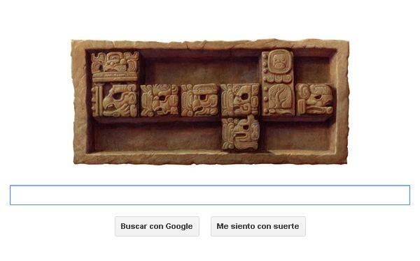 El fin del 13er baktún de los mayas en un 'doodle' de Google