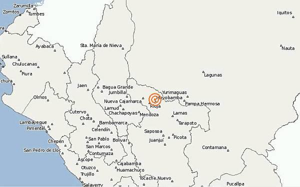 Un sismo de 4,8 grados remeció esta mañana la ciudad de Moyobamba