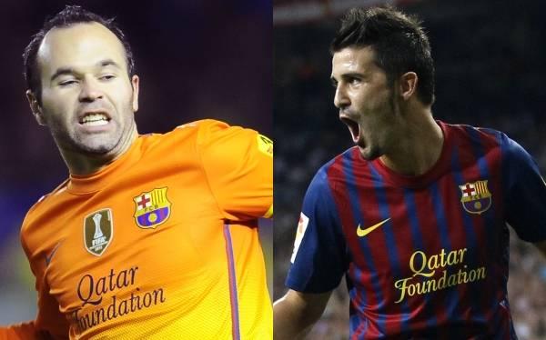 """Andrés Iniesta: """"David Villa es un jugador fundamental para Barcelona"""""""