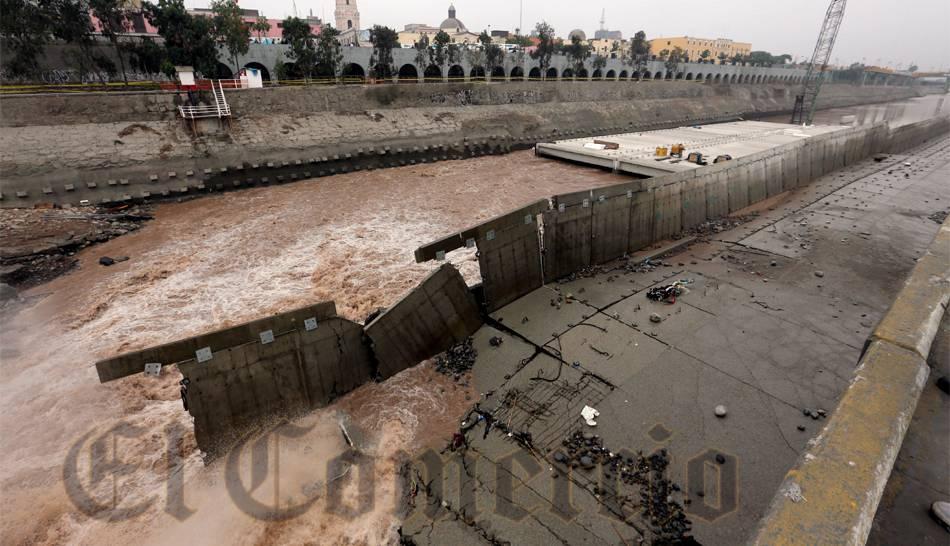 FOTOS: así quedó el muro de contención del proyecto Vía Parque Rímac