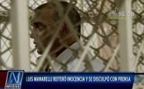 Luis Mannarelli reiteró su inocencia y se disculpó con la prensa - Noticias de clan calígula
