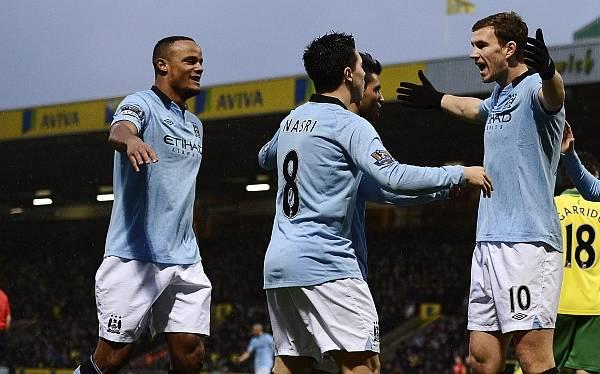 Manchester City venció 4-3 al Norwich en un partido electrizante