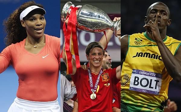 Usain Bolt, Serena Williams y la selección española son los mejores del 2012