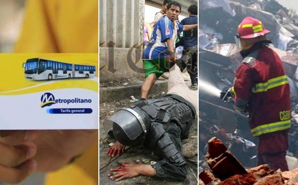 RECUENTO 2012: La Parada, incendios y alza de pasajes pusieron a Lima de cabeza