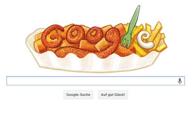 Una 'salchipapa' es el último 'Doodle' de Google en Alemania