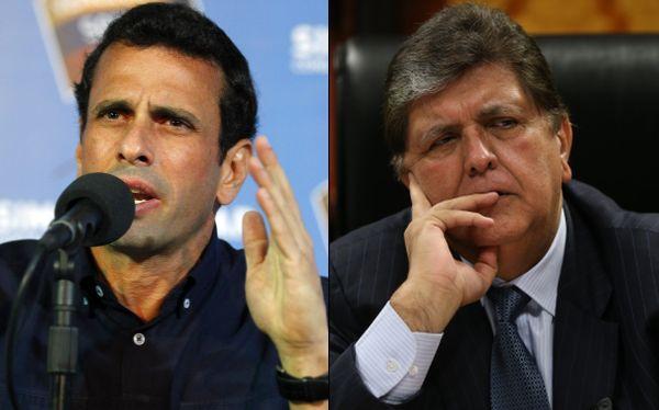 Henrique Capriles llega hoy a Lima y se reuniría con Alan García