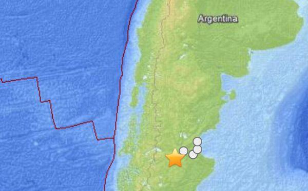 Argentina: sismo de 5,4 grados Richter fue sentido esta noche