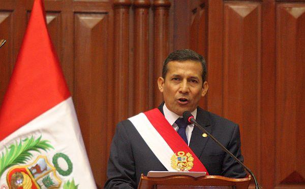 Las 20 principales cifras del mensaje presidencial de Ollanta Humala