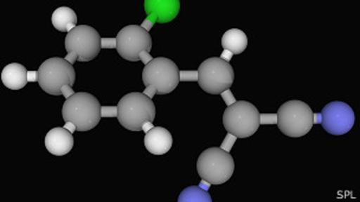 Molécula de gas CS