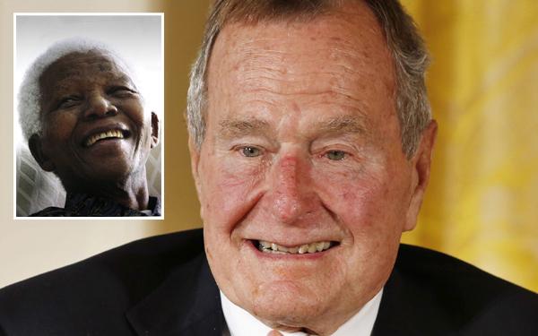 George H. W. Bush dio por muerto a Mandela y envió condolencias
